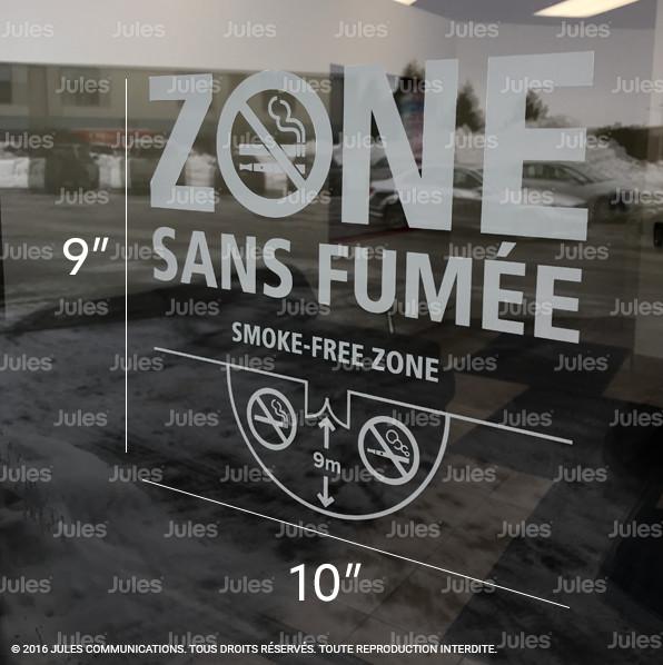 Loi 44 autocollant zone sans fum e loi sur le tabac 9 for Chambre sans fenetre loi quebec